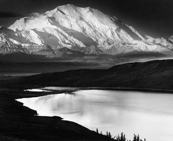 Mont McKinley et le Lac Merveilleux, Denali National Park, Alaska, 1947