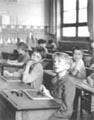 L'information scolaire, école rue Buffon, Paris V, 1956