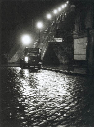 Rue Muller at Montmartre, Paris, 1934. I adore the lightning in this